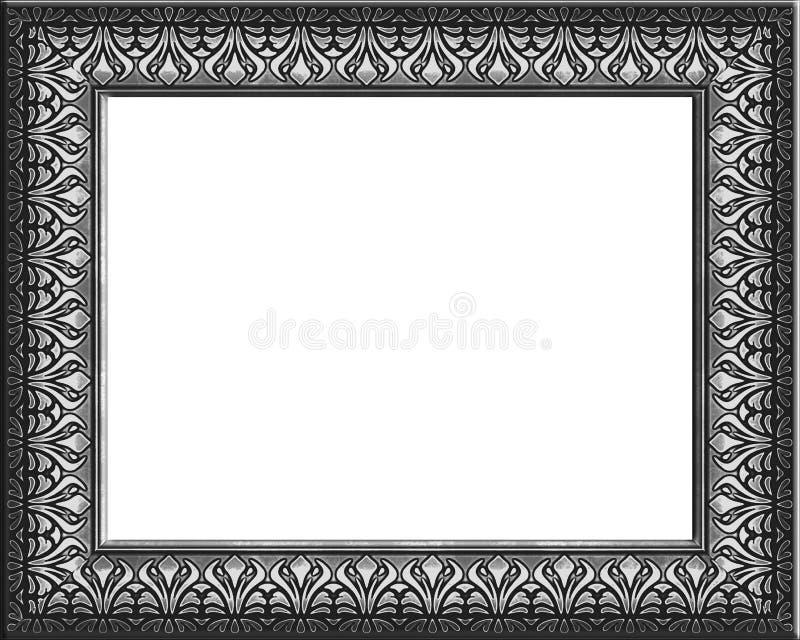 ramy wzorzystości srebra ilustracja wektor