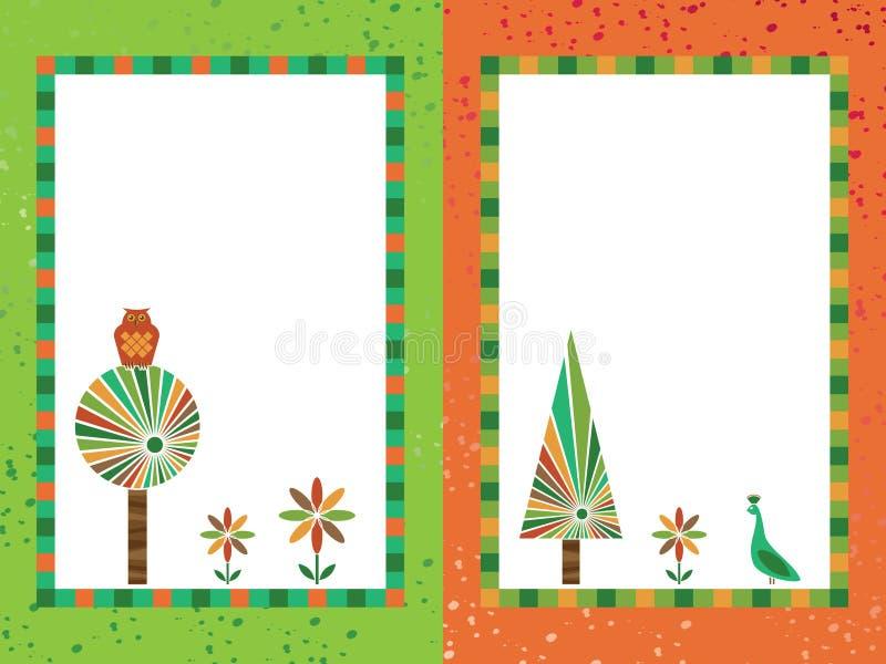 Download Ramy zielenieją pomarańcze ilustracja wektor. Ilustracja złożonej z grunge - 13325850