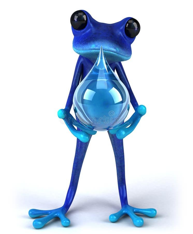 Rana azul stock de ilustración