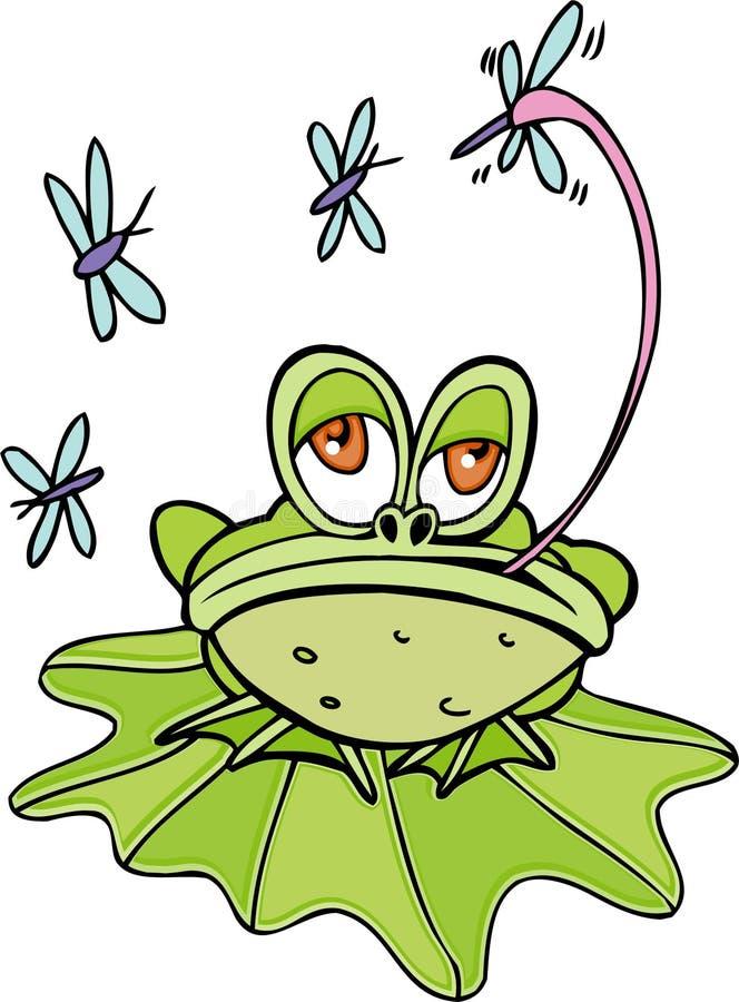Rana che mangia le zanzare illustrazione vettoriale for Pesci da laghetto mangia zanzare