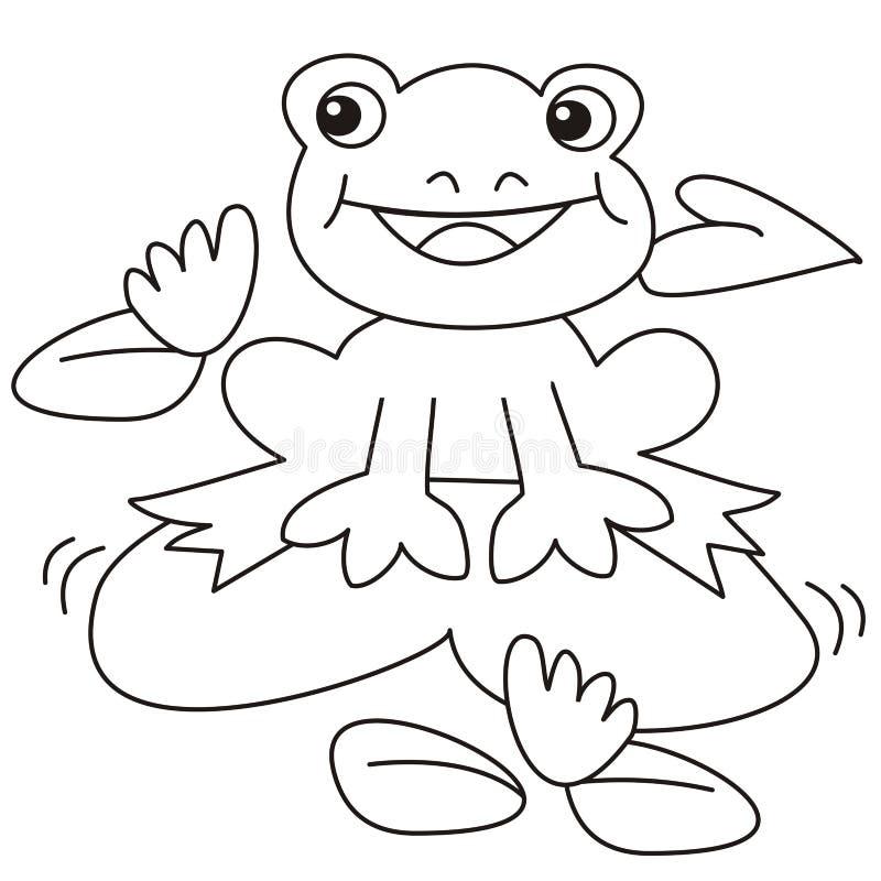 Rana-colorante ilustración del vector. Ilustración de lindo - 32039880