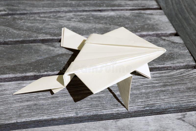 Rana de Origami foto de archivo