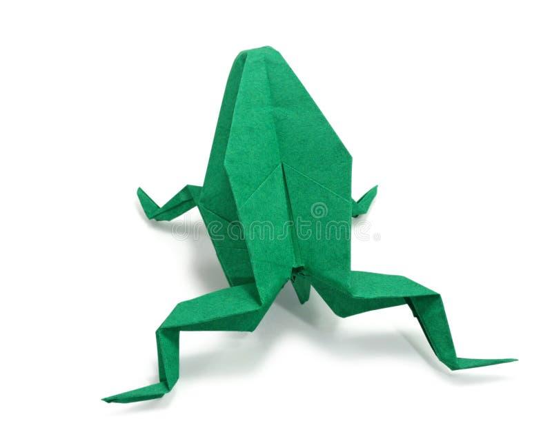 Rana de Origami fotografía de archivo