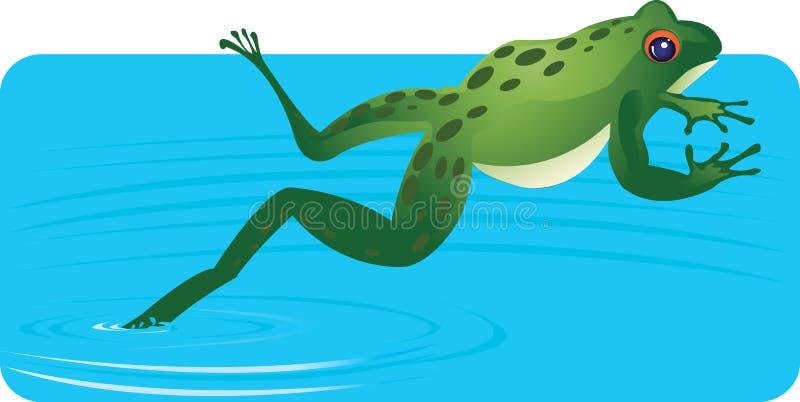 Rana del agua stock de ilustración