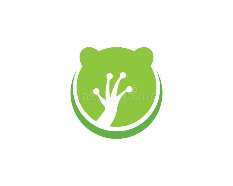 Rana Logo Template stock de ilustración