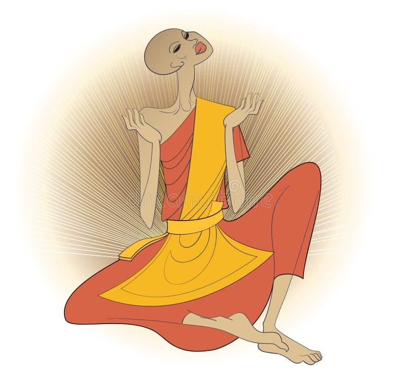Rana pescatrice buddista royalty illustrazione gratis