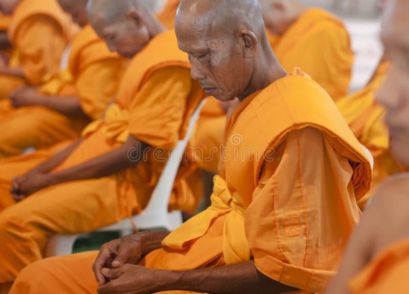 Rana pescatrice buddista in Tailandia immagine stock libera da diritti