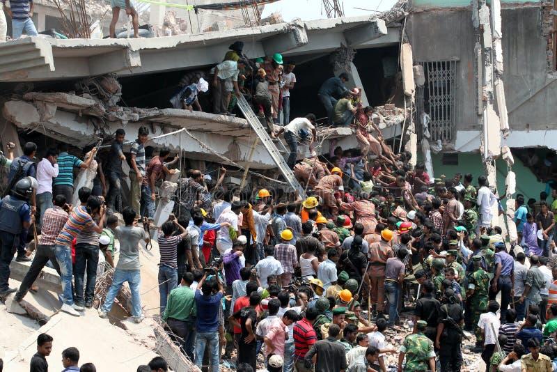 Rana plaza collapsed stock photo