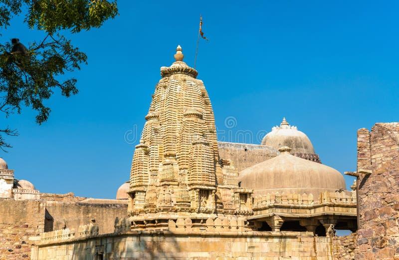 Rana Ratan Singh Mahal en slott på det Chittorgarh fortet - Rajastan, Indien fotografering för bildbyråer