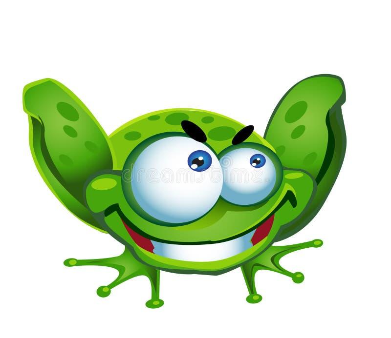 Rana verde ilustración del vector