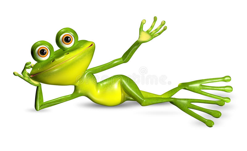 Rana verde royalty illustrazione gratis
