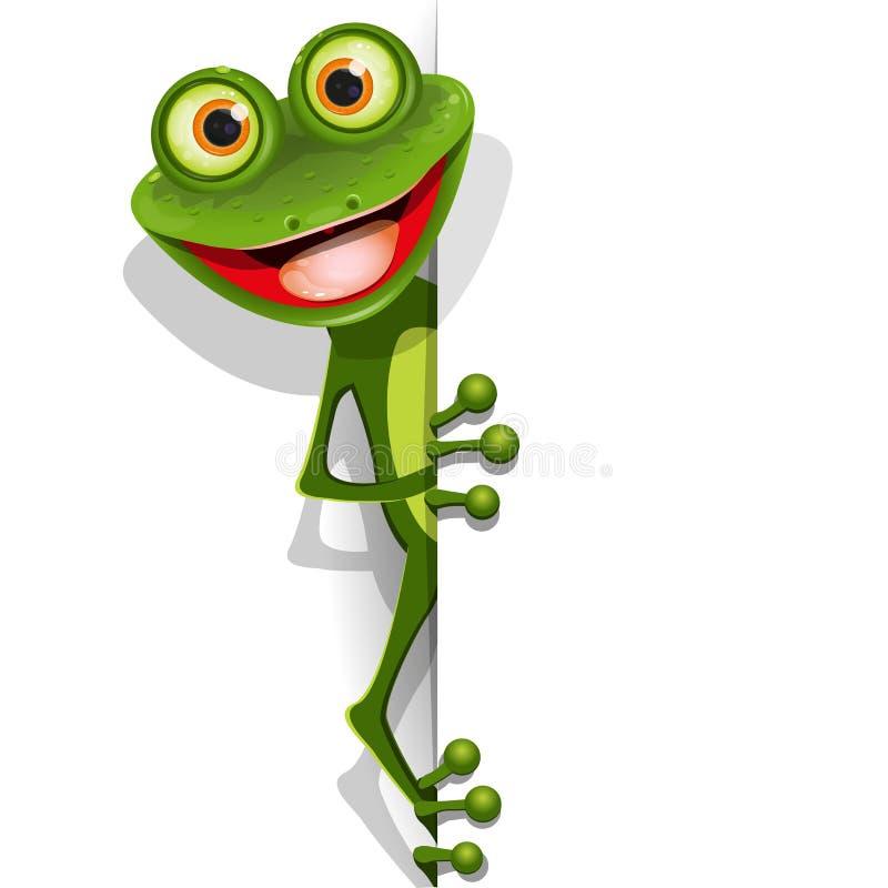 Rana verde allegra illustrazione vettoriale