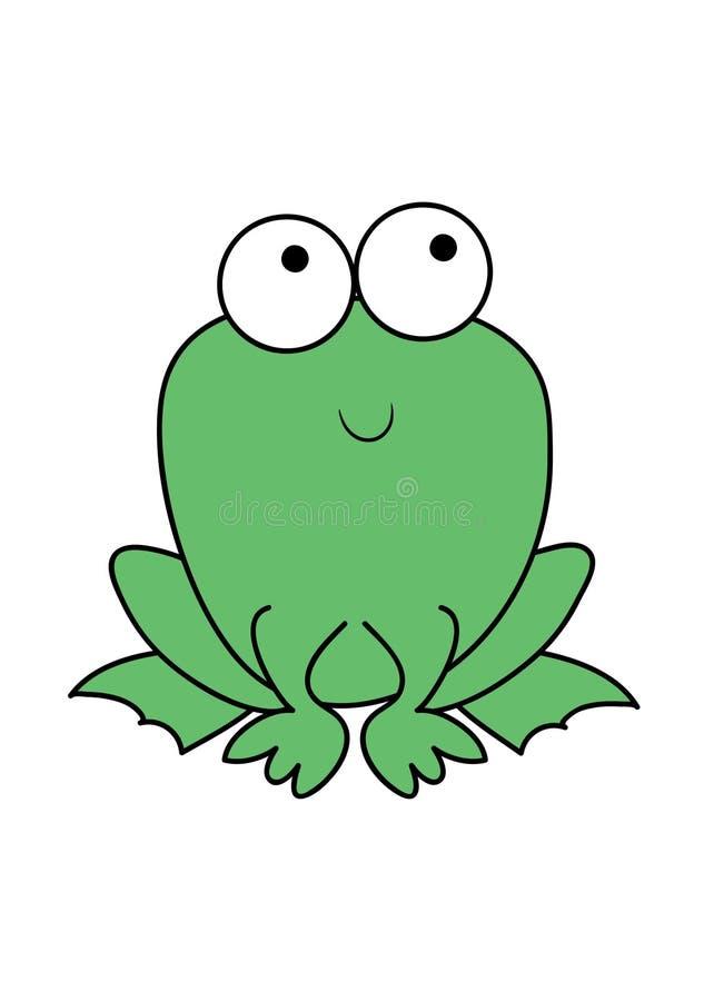 Rana verde linda de la historieta libre illustration
