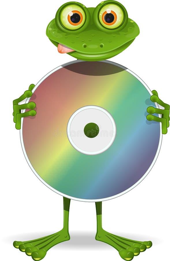 Rana y CD ilustración del vector