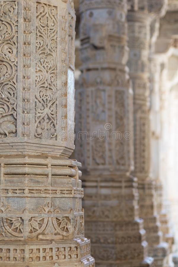Free Ranakpur, India - February 2, 2017: Interior Of The Majestic Jainist Temple At Ranakpur, Rajasthan, India. Architectural Details O Stock Image - 126550701