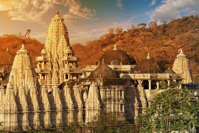 Ranakpur Jain temple or Chaturmukha, Dharana, Vihara, is a Jain temple at Ranakpur stock images