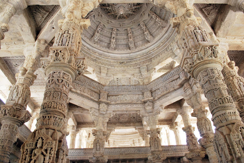 Ranakpur jain temple, Rajasthan. stock photo