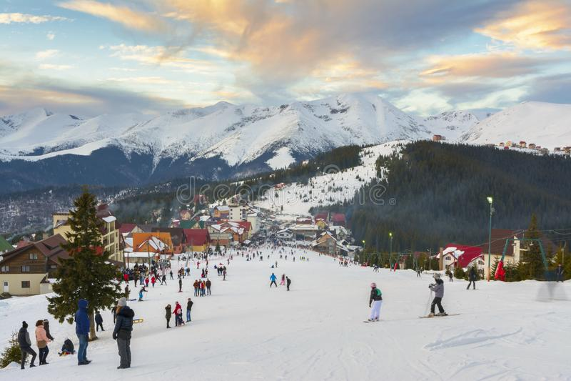 Ranca Ski Resort, Rumänien stockfotos