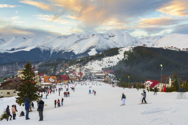 Ranca Ski Resort, Rumania fotos de archivo