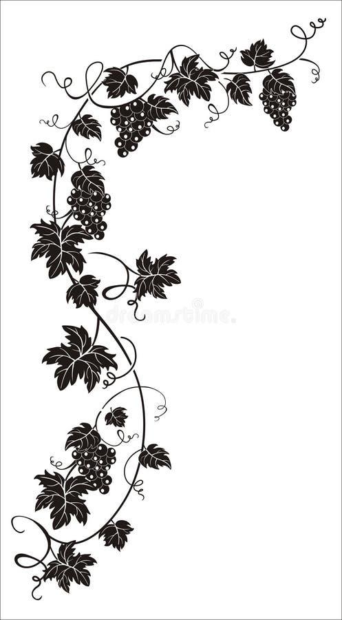 Ranch de raisins illustration de vecteur