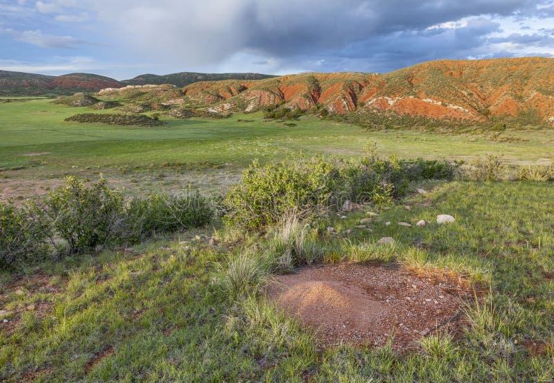 Ranch della montagna di Colorado fotografie stock