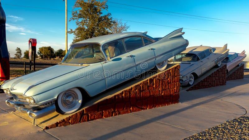 Ranch di Cadillac fuori di arte di Amarillo il Texas - di Americana installare fotografia stock libera da diritti
