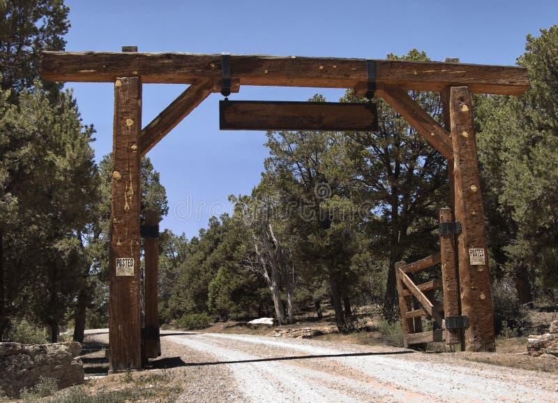 Ranch gateway stock photography