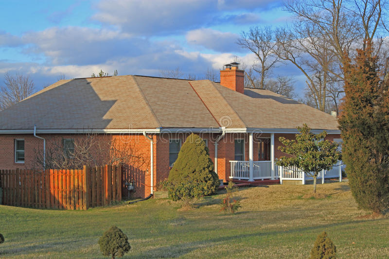 Ranch-Haus stockbild
