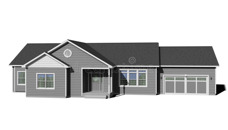 Ranch House Gray Stock Illustration Illustration Of