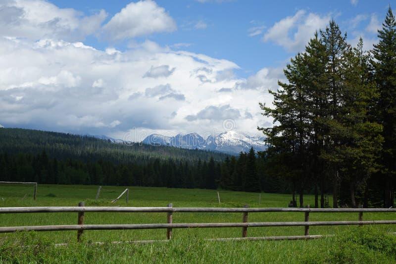 Ranch near Glacier, Montana royalty free stock image