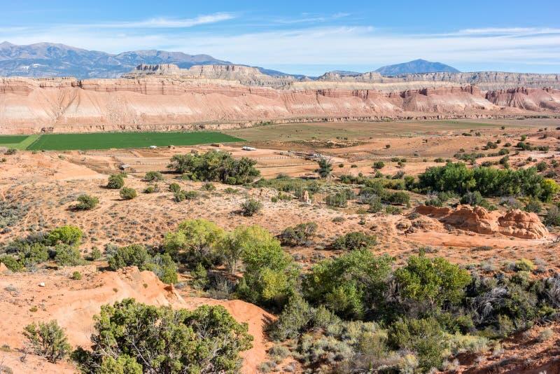 Ranch nel popolare di Waterpocket fotografia stock libera da diritti
