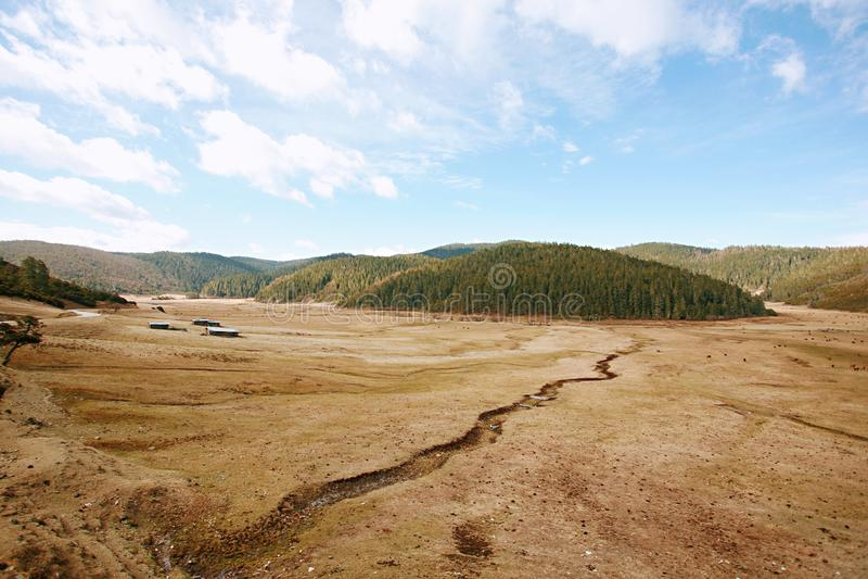 Shangri-La. The ranch of the Tibetan people in Shangri-La, Yunnan stock images