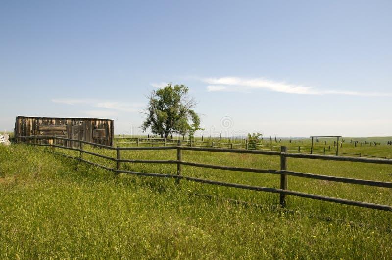Ranch in Wyoming lizenzfreie stockfotos