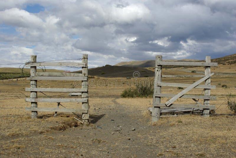 Ranchdörr i Chile arkivfoto