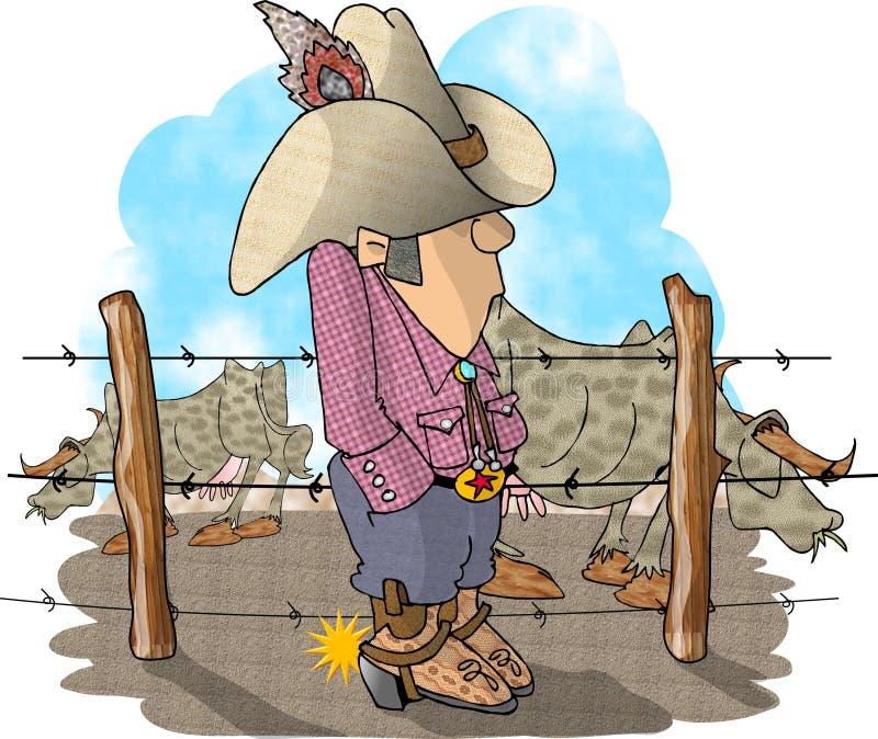 Ranchero del ganado ilustración del vector