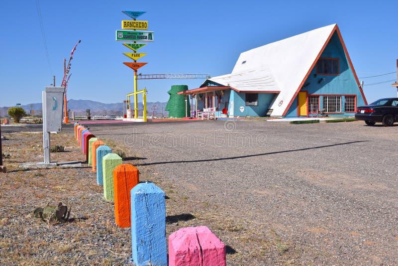 Ranchero motel, Kingman, trasa 66 fotografia stock