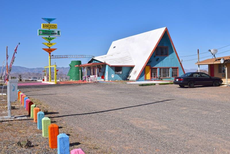 Rancheromotel, Kingman, Route 66 stock foto