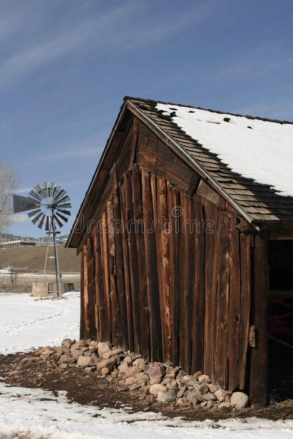 Ranching Along the Front Range. A 19th century ranch that can be found along the Front Range of the Rocky Mountains in Colorado stock photo