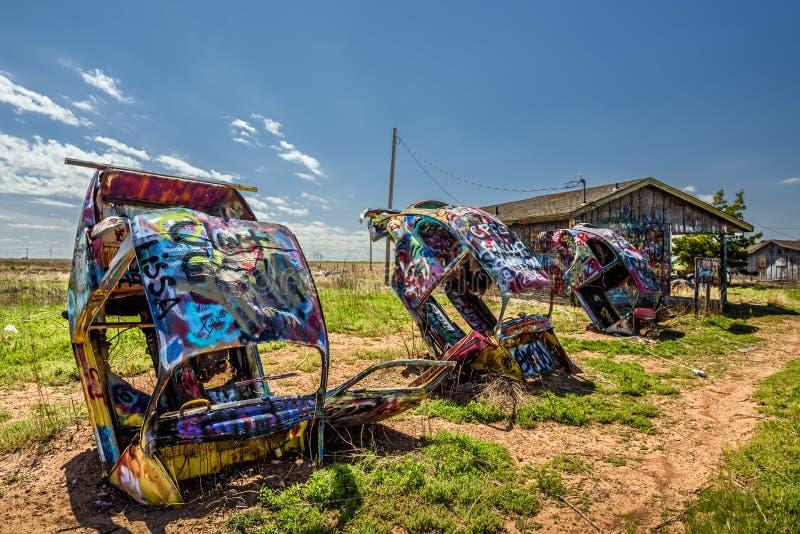 Rancho de Bugg em Route 66 em Texas imagens de stock royalty free