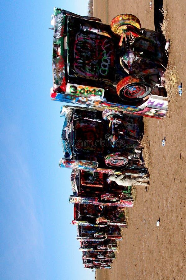 Rancho de Cadillac perto de Amarillo, TX fotografia de stock royalty free