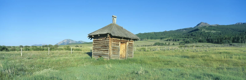 Rancho de gajo velho, fotos de stock royalty free