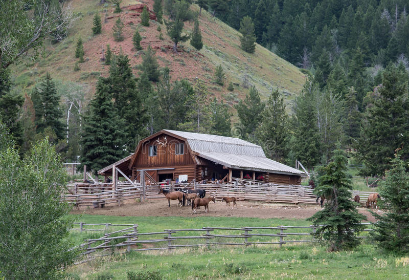 Rancho de Wyoming fotos de stock