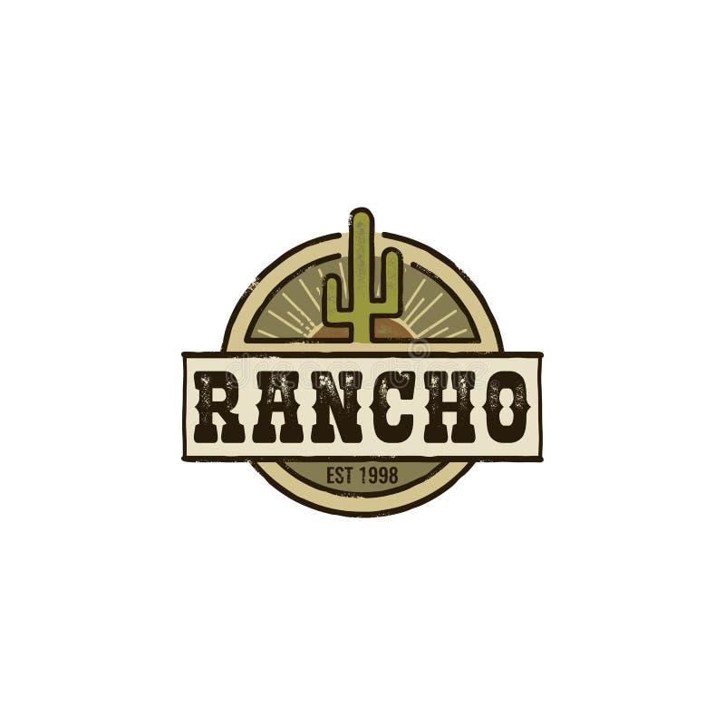 Rancho kaktusa logo royalty ilustracja