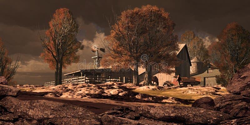 rancho końscy południowi zachody ilustracji