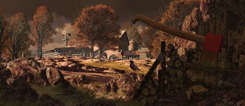rancho końscy południowi zachody ilustracja wektor