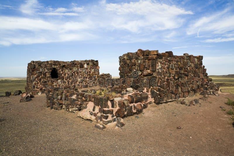 Rancho no parque nacional de floresta Petrified imagens de stock