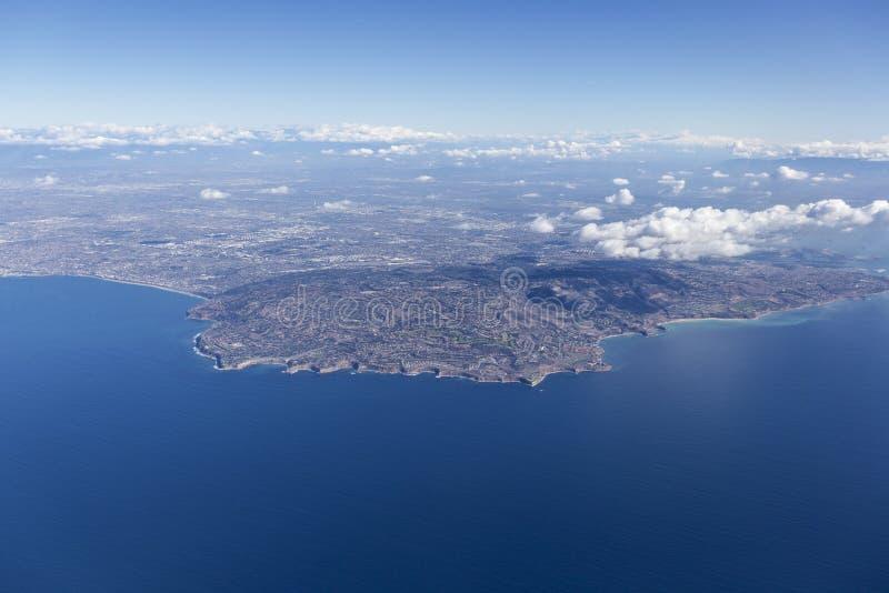 Rancho Palos Verdes Aerial near Los Angeles California. royalty free stock photography