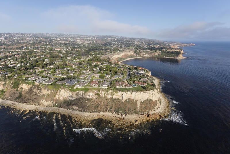 Rancho Palos Verdes California Coast Aerial fotos de stock royalty free