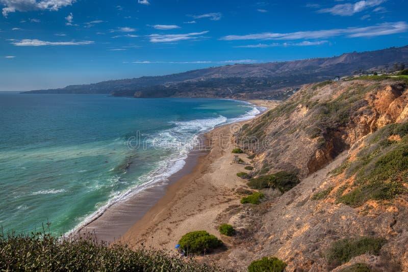 Rancho Palos Verdes plaża fotografia stock
