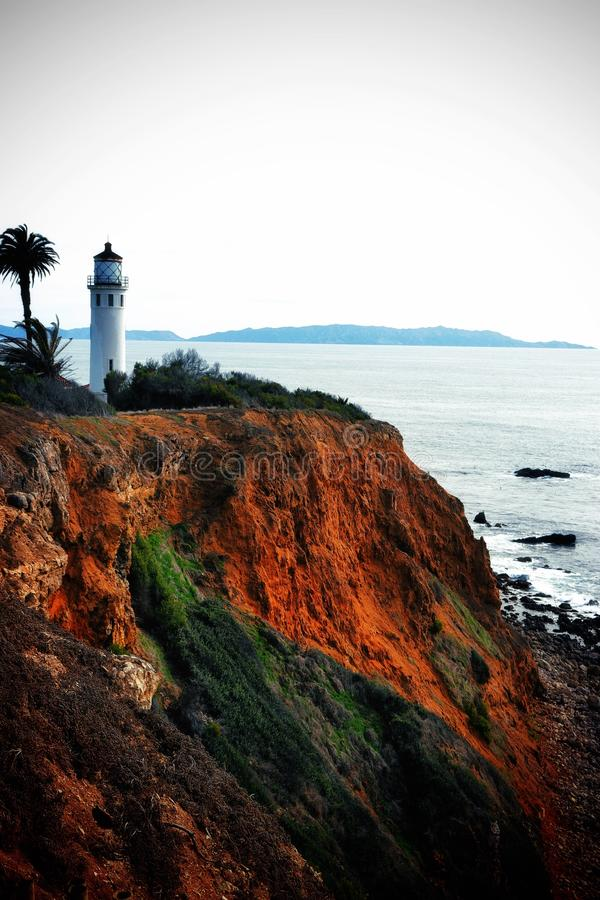 Rancho Palos Verdes punktu Vincente latarnia morska zdjęcie stock
